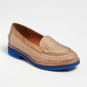 Jeffrey Campbell Dorm Stud leather loafer 7